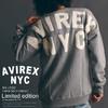 AVIREX BIG LOGO CREW NECK SWEAT 6183448画像
