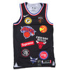 NIKE × Supreme NBA Teams Authentic Jersey BLACK画像