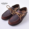 YUKETEN ALL HANDSEWN CANOE MOC BROWN画像