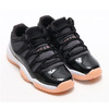 NIKE AIR JORDAN 11 RETRO LOW GG BLACK/BLEACHED CORAL-WHITE 580521-013画像