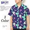 """SUN SURF S/S COTTON TYPEWRITER OPEN SHIRT """"ABSTRACT FLOWER"""" by Masked Marvel SS37922画像"""