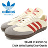 adidas SAMBA CLASSIC OG Chalk White/Scarlet/Clear Granite Originals CQ2216画像