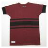 DAPPER'S Printed 3 Lines Horizontal Stripes Henley Neck Short Sleeve Crew Neck Tee Shirts LOT1247画像