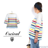 Orcival Lady's #6814-Multi RACHEL 1/2sleeve Wide BasqueShirt画像