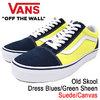 VANS Old Skool Dress Blues/Green Sheen Suede/Canvas VN0A38G1R1M画像