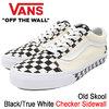 VANS Old Skool Black/True White Checker Sidewall VN0A38G1QMI画像