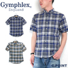 Gymphlex #J-0937BGM Men's S/S Madras Check Shirt画像