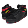 "NIKE AIR JORDAN 1 MID ""LAST SHOT"" black/tour yellow-gym red 554724-076画像"