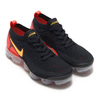 NIKE AIR VAPORMAX FLYKNIT 2 BLACK/LASER ORANGE-TOTAL CRIMSON 942842-005画像
