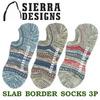 SIERRA DESIGNS スラブ ボーダー ソックス 3P 131-1030画像