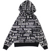 Supreme × HYSTERIC GLAMOUR Text Hooded Sweatshirt BLACK画像