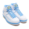 NIKE AIR JORDAN 2 RETRO WHITE/UNIVERSITY BLUE-VARSITY MAIZE 385475-122画像