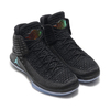 NIKE AIR JORDAN XXXII PF BLACK/MULTI-COLOR-METALLIC SILVER AH3348-003画像