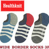 Healthknit WIDE BORDER SOCKS 3P 191-3486画像