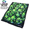 LIQUID BLUE Skull Pile Fleece Throw Blanket 81015画像