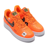 NIKE AIR FORCE 1 '07 PRM JDI TOTAL ORANGE/TOTAL ORANGE-BLACK-WHITE AR7719-800画像