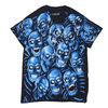 LIQUID BLUE Skull Pile Blue Black Tee BLUExBLACK画像