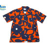 Surf Line HAWAII/Original Jams S/S G-POPLIN SHIRTS navy x orange画像