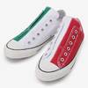 CONVERSE ALL STAR 100 PAIRFLAG SLIP OX (Italy) GREEN / WHITE / RED 32862644画像