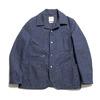 "Soundman × HINOYA Special Order Coverall Jacket ""Birmingham"" Indigo Jazz Nep HBT O374-654M画像"