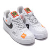NIKE AIR FORCE 1 '07 PRM JDI WHITE/WHITE-BLACK-TOTAL ORANGE AR7719-100画像