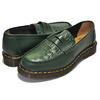 Dr.Martens × STUSSY PENTON LOAFER GREEN MADE IN ENGLAND VIBRANCE CROCO 24359300画像