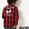 AVIREX L/S EMBROIDERY CHECK SHIRT LITTLE JOE 6185141画像