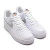 NIKE AIR FORCE 1 '07 LV8 JDI LNTC WHITE/WHITE-BLACK-TOTAL ORANGE BQ5361-100画像