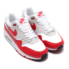 NIKE W AIR MAX 90/1 WHITE/UNIVERSITY RED-NEUTRAL GREY-BLACK AQ1273-100画像