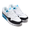 NIKE AIR MAX 90/1 WHITE/NEUTRAL GREY-BLACK-LASER BLUE AJ7695-104画像
