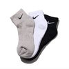 NIKE 3PPK COTTON CUSHION QUARTER SOCK + MOISTURE MANAGEMENT MULTI SX4703-901画像