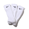NIKE 3PPK CUSHION CREW SOCK + MOISTURE MANAGEMENT WHITE SX4700-101画像