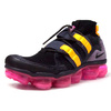 "NIKE AIR VAPORMAX FLYKNIT UTILITY ""LIMITED EDITION for RUNNING FLYKNIT"" BLK/C.GRY/PPL/YEL/N.PNK AH6834-006画像"