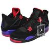 "NIKE AIR JORDAN 4 RETRO NRG ""RAPTORS"" black/court purple AQ3816-065画像"