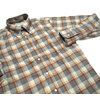 INDIVIDUALIZED SHIRTS L/S STANDARD FIT B.D. FLANNEL CHECK SHIRTS/grey x beige画像