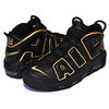 NIKE AIR MORE UPTEMPO 96 FRANCE QS black/metallic gold AV3810-001画像
