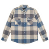 Brixton BOWERY L/S FLANNEL OFF WHITE×DUSTY BLUE 01000画像