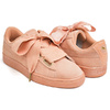 PUMA SUEDE HEART SATIN WNS DUSTY CORAL - GOLD 362714-05画像
