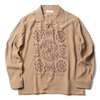 RADIALL TEMPLE - OPEN COLLARED SHIRT L/S (ROOT BEER)画像
