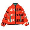 Supreme 18FW Reversible Logo Fleece Jacket ORANGE画像