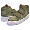 NIKE AIR JORDAN 1 RETRO HI DOUBLE STRAP olive canvas/cone-light bone AQ7924-305画像