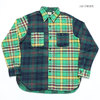 SUGAR CANE TWILL CHECK L/S WORK SHIRT CRAZY PATTERN SC27976画像