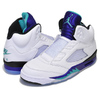 "NIKE AIR JORDAN 5 RETRO NRG ""FRESH PRINCE"" white/new emerald-grapeice AV3919-135画像"