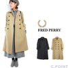 FRED PERRY Lady's #F6266 Light Trench Coat画像
