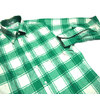 INDIVIDUALIZED SHIRTS L/S STANDARD FIT B.D. FLANNEL CHECK SHIRTS green x white画像