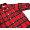 INDIVIDUALIZED SHIRTS L/S STANDARD FIT B.D. FLANNEL CHECK SHIRTS red x green画像