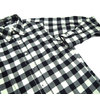 INDIVIDUALIZED SHIRTS L/S STANDARD FIT B.D. BUFFALOE FLANNEL CHECK SHIRTS black x white画像