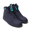 NIKE WMNS AIR JORDAN 1 HIGH ZIP BLACKENED BLUE/NEPTUNE GREEN-WHITE AQ3742-403画像