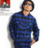 BEN DAVIS CHECK CPO JACKET -BLUE- G-8780011画像