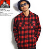 BEN DAVIS CHECK CPO JACKET -RED- G-8780011画像